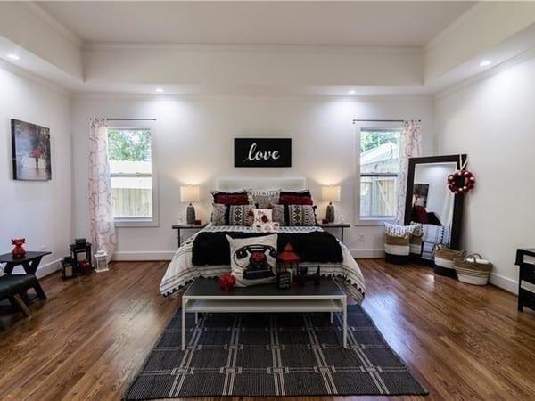 Master bedroom after full home remodeling