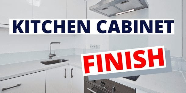 kitchen cabinet finish