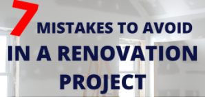 Avoid 7 mistakes in a renovation project